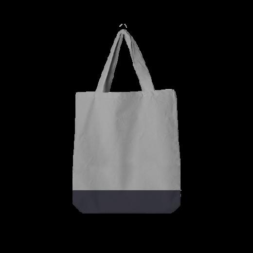 bawełniana szara torba oversize