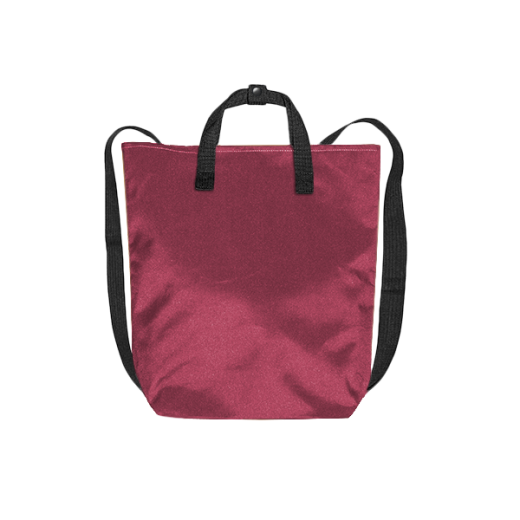 bordowy plecak minimal na zamek