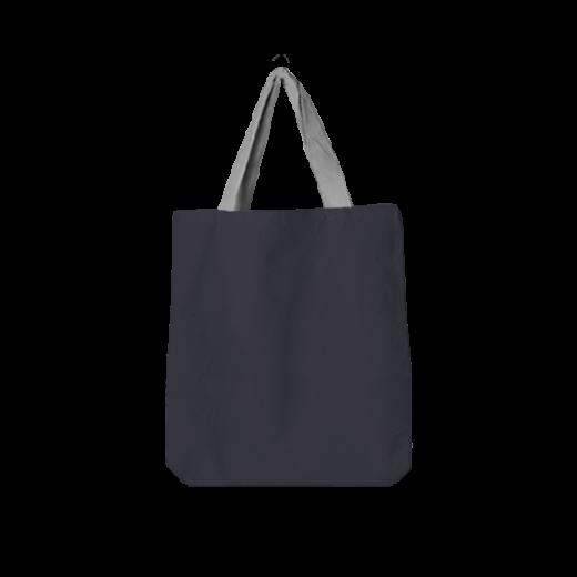 ciemna torba oversize z szarą masywną rączką