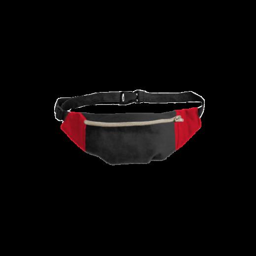 czarno-czerwona nerka na zamek
