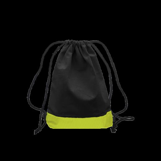 czarno-zielony worek z troczkami