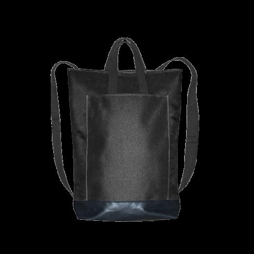 czarny plecak city z kieszenią