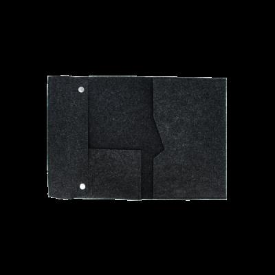 czarna teczka filcowa na dokumenty i laptopa