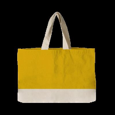 torba plażowa żółta z rączkami ecri