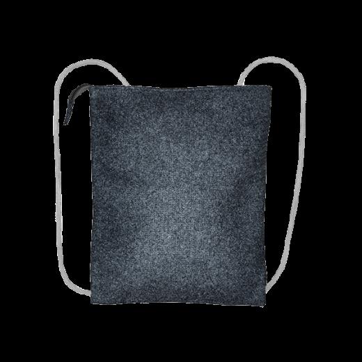grafitowy plecak biznes z filcu na sznurkach