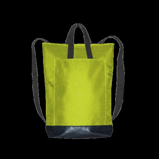 kanarkowa zieleń plecak city z kieszenią