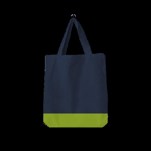 torba poliestrowa oversize granatowo-żółta