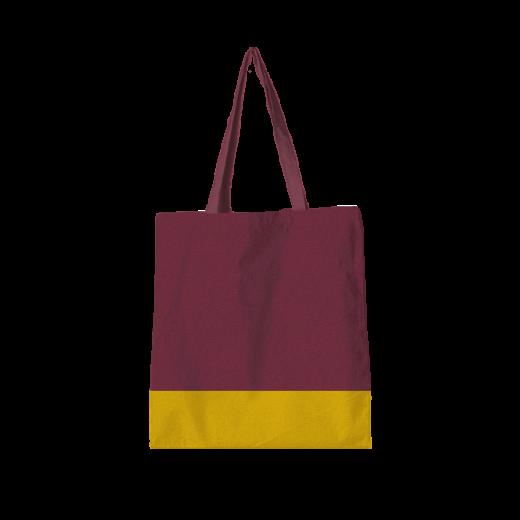 torba standard bordowo-żółta z uszami