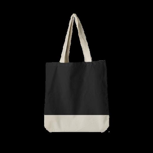 torba standard czarna z dnem i uszami ecri