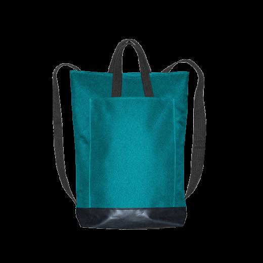 turkusowy plecak city z kieszenią