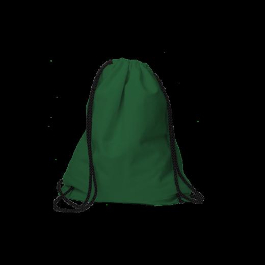 worek na sznurkach zielony